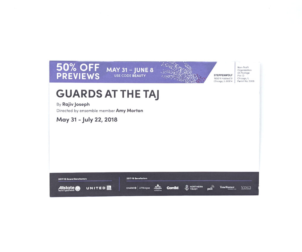 Guards at the Taj Direct Mailer (Mailing Panel)